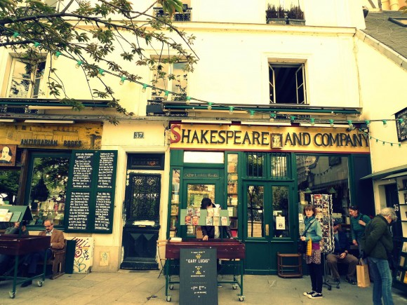 Shakespeare & Co bookstore in Paris, France.